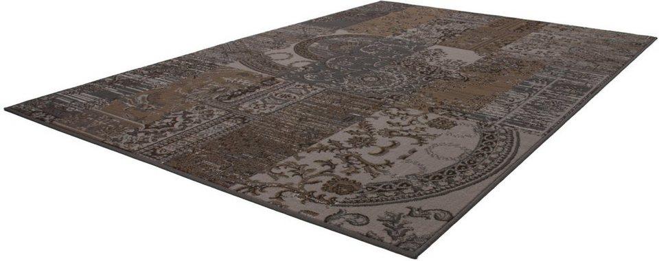 Teppich, Kayoom, »Sona 2096«, Patchwork Design, gewebt in Braun