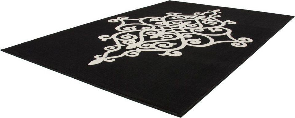 Teppich, Kayoom, »Manolya 2099«, gewebt in Schwarz