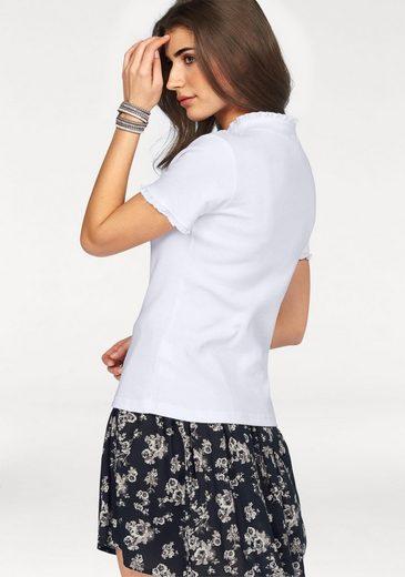Boysen's T-Shirt, mit feiner Rüschenkante