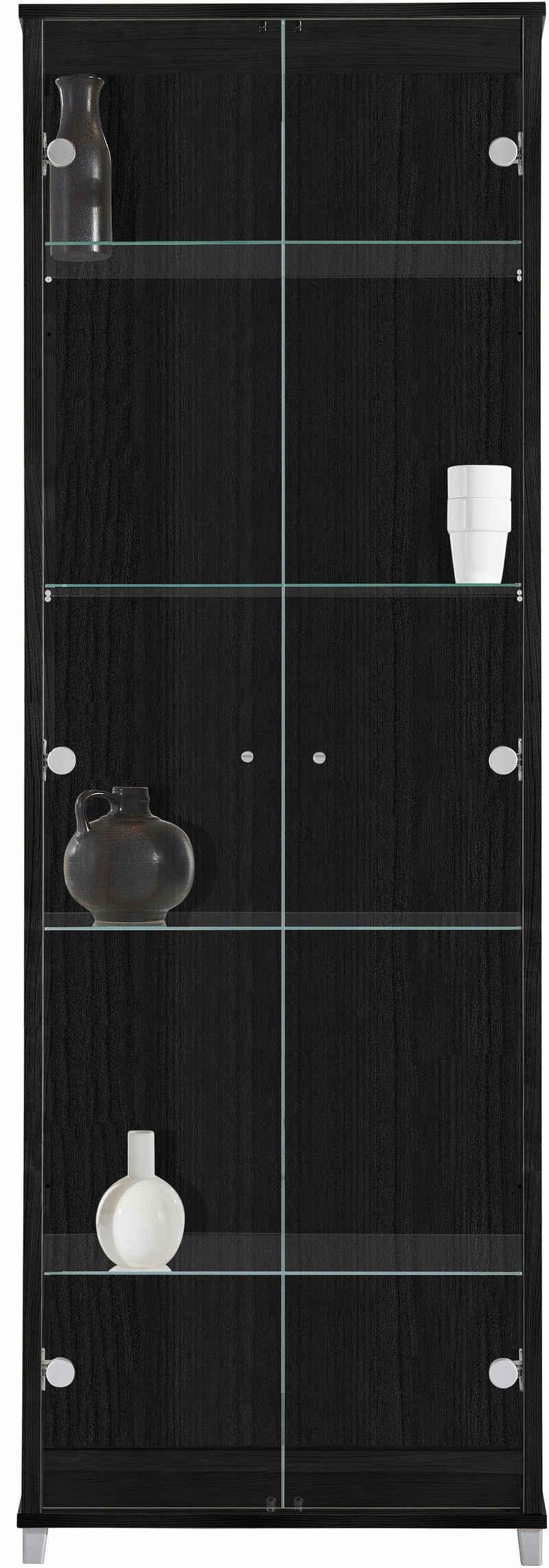 fif möbel Vitrine 2-türig, 4 Glasböden