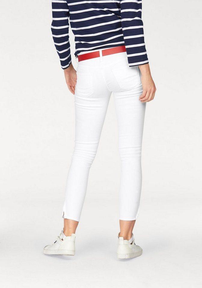Cross Jeans® 7/8-Jeans »Giselle« mit Reißverschlüssen am Saum in weiß