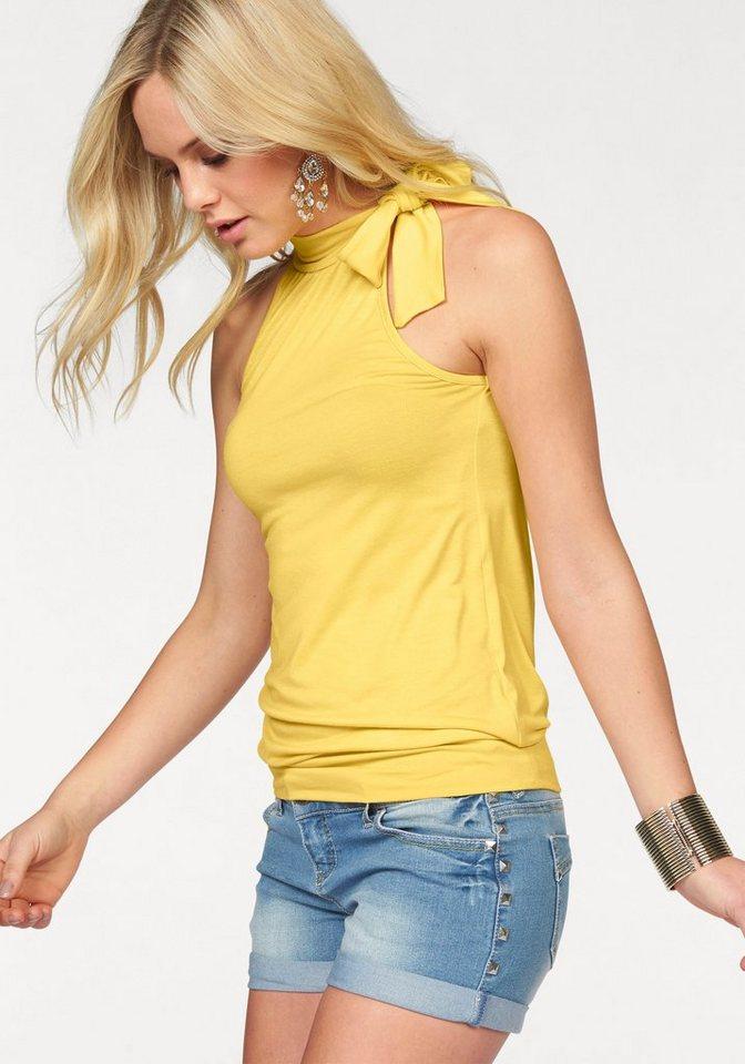 Melrose Neckholdertop mit Schluppe in gelb