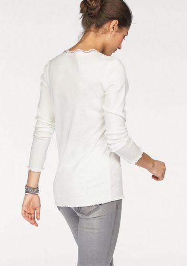 Boysen's Langarmshirt, mit Spitze