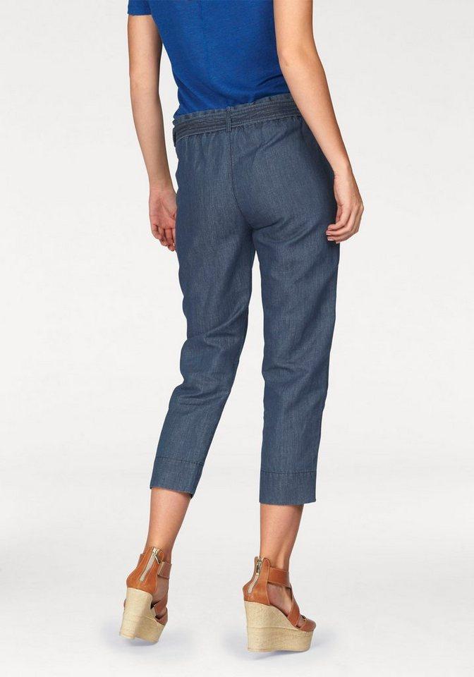 Marc O'Polo 7/8-Jeans mit verstellbarem Gürtel in blue-denim