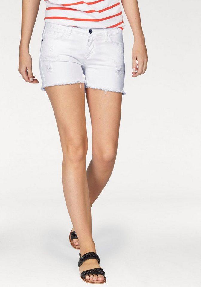 Cross Jeans® Shorts »Mayla« mit Destroyed-Effekten in weiß