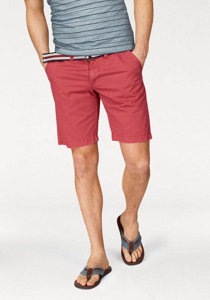 Rhode Island Shorts (Set, mit Gürtel) in rot
