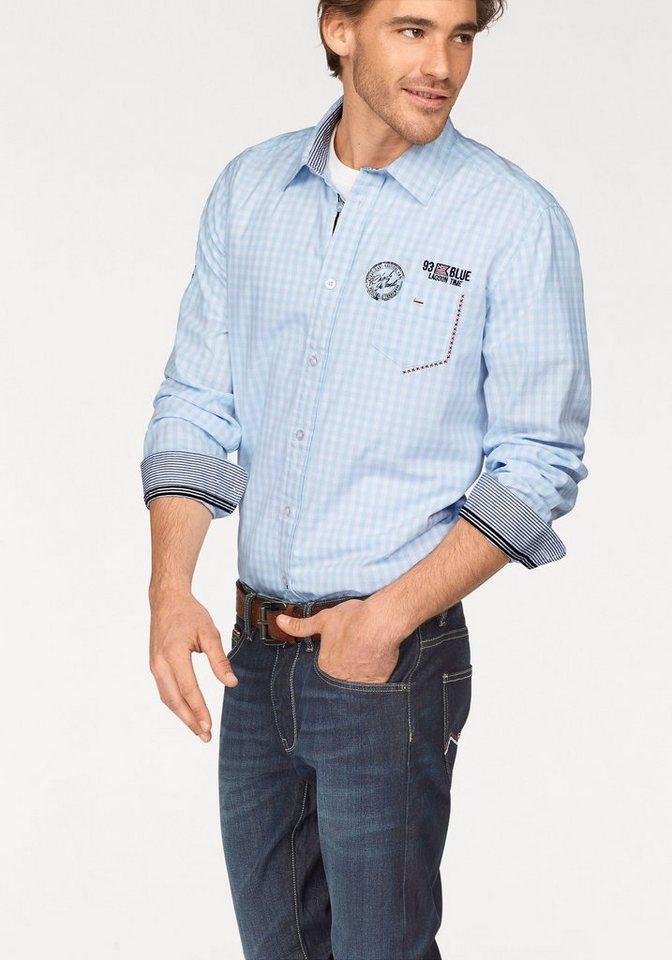 Rhode Island Hemd in hellblau-weiß-kariert