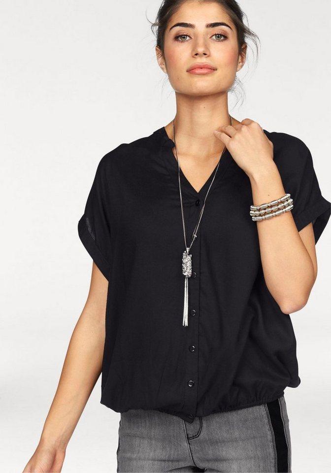 Boysen´s Hemdbluse im Oversized-Style mit Ballonsaum