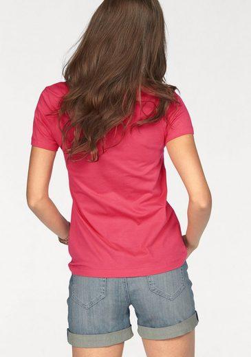 Boysen's T-Shirt, mit feiner Lochstickerei