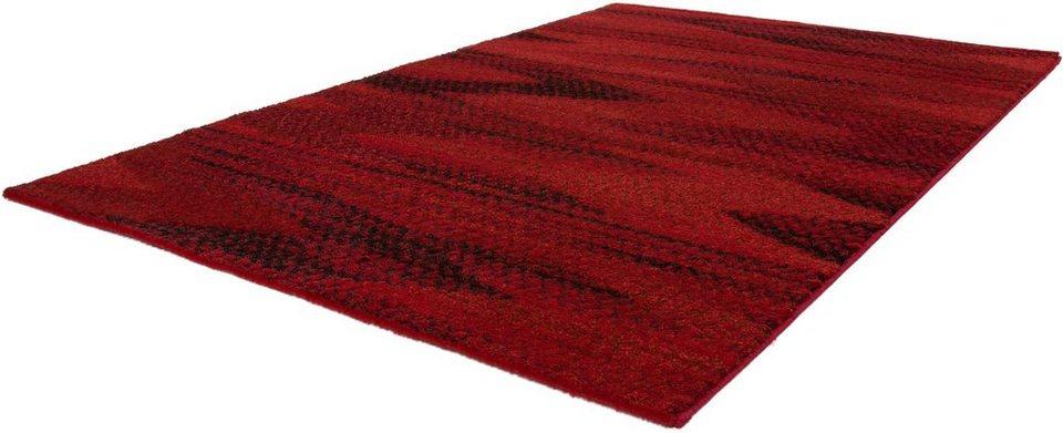 Hochflor-Teppich, Kayoom, »Jupiter 321«, Höhe 25 mm, gewebt in Rot