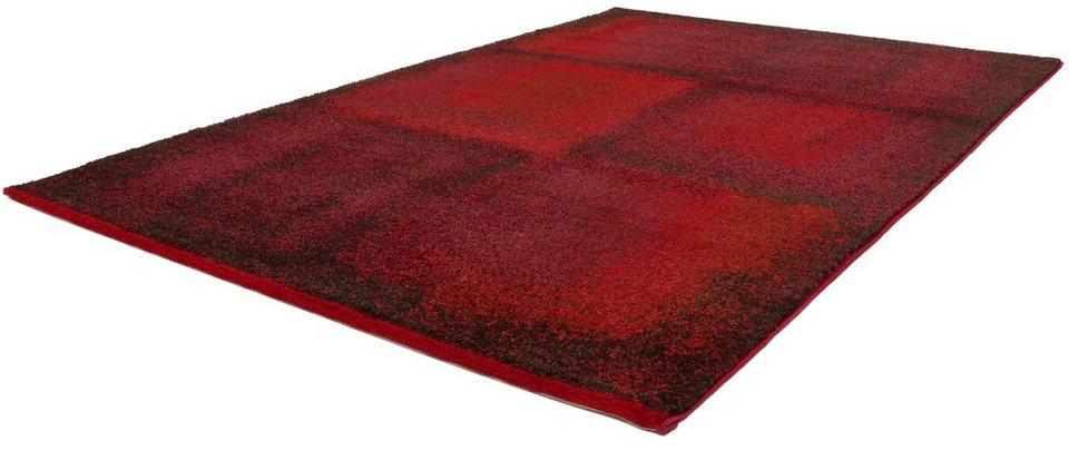 Hochflor-Teppich, Kayoom, »Jupiter 380«, Höhe 25 mm, gewebt in Rot