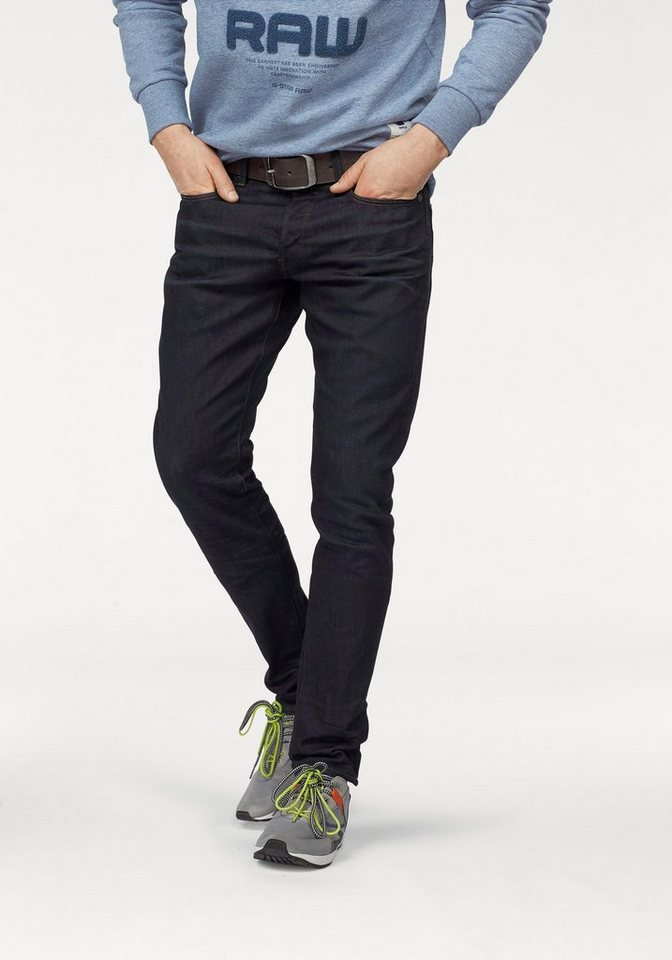 G-Star Tapered-fit-Jeans »3301 Tapered« in dark-aged