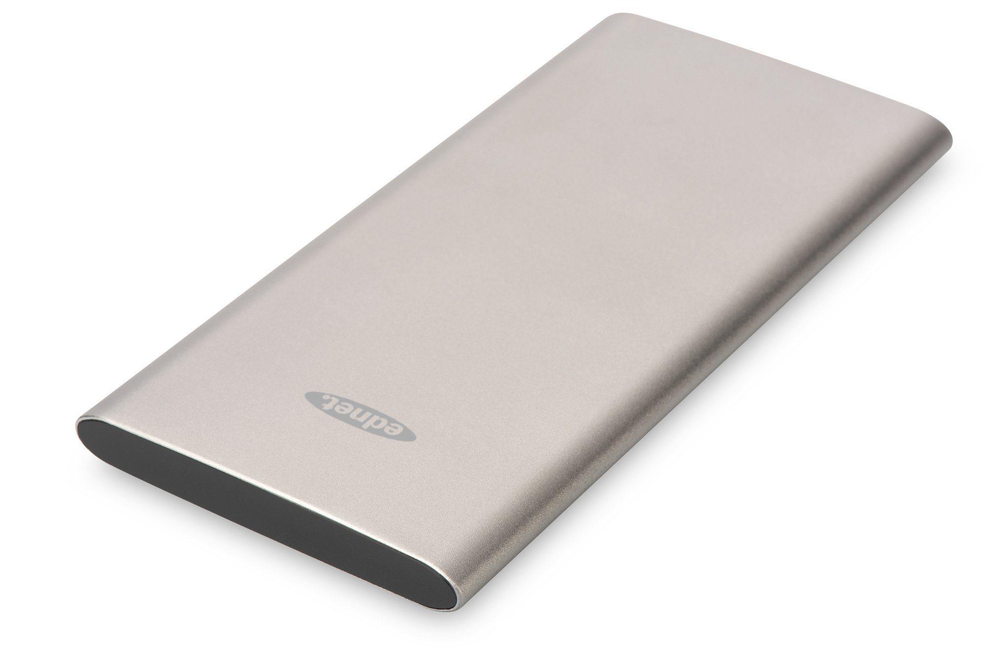 Ednet Powerbank »Ednet Slim Line Aluminium Power Bank grau«