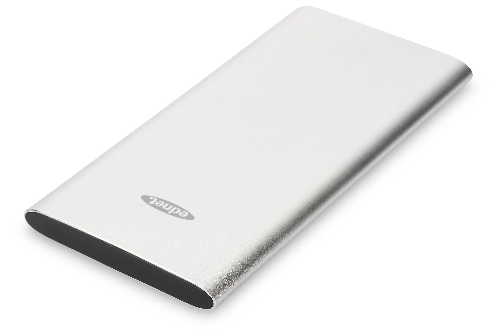 Ednet Powerbank »Ednet Slim Line Aluminium Power Bank silber«