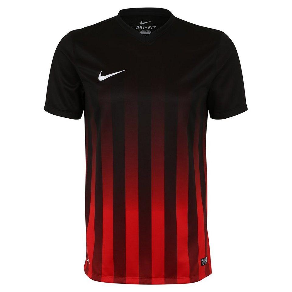 NIKE Striped Division II Fußballtrikot Herren in schwarz / rot / weiß