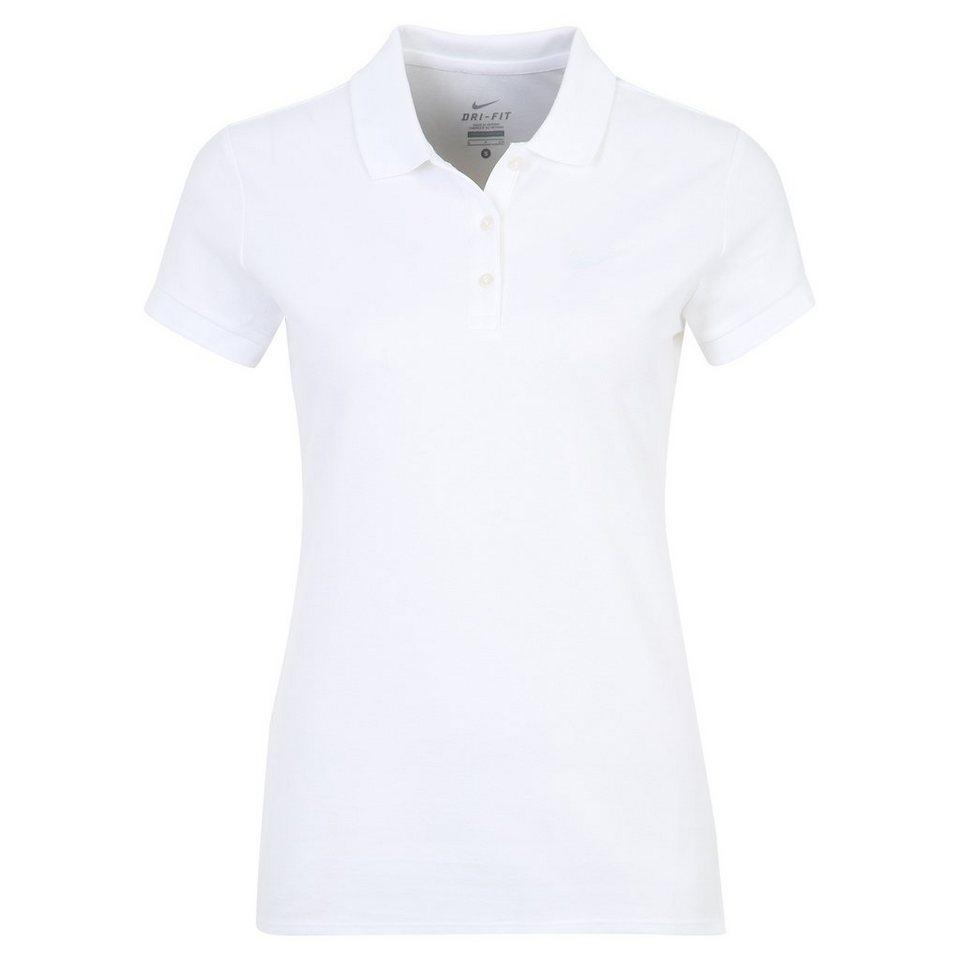 NIKE Baseline Tennispolo Damen in weiß