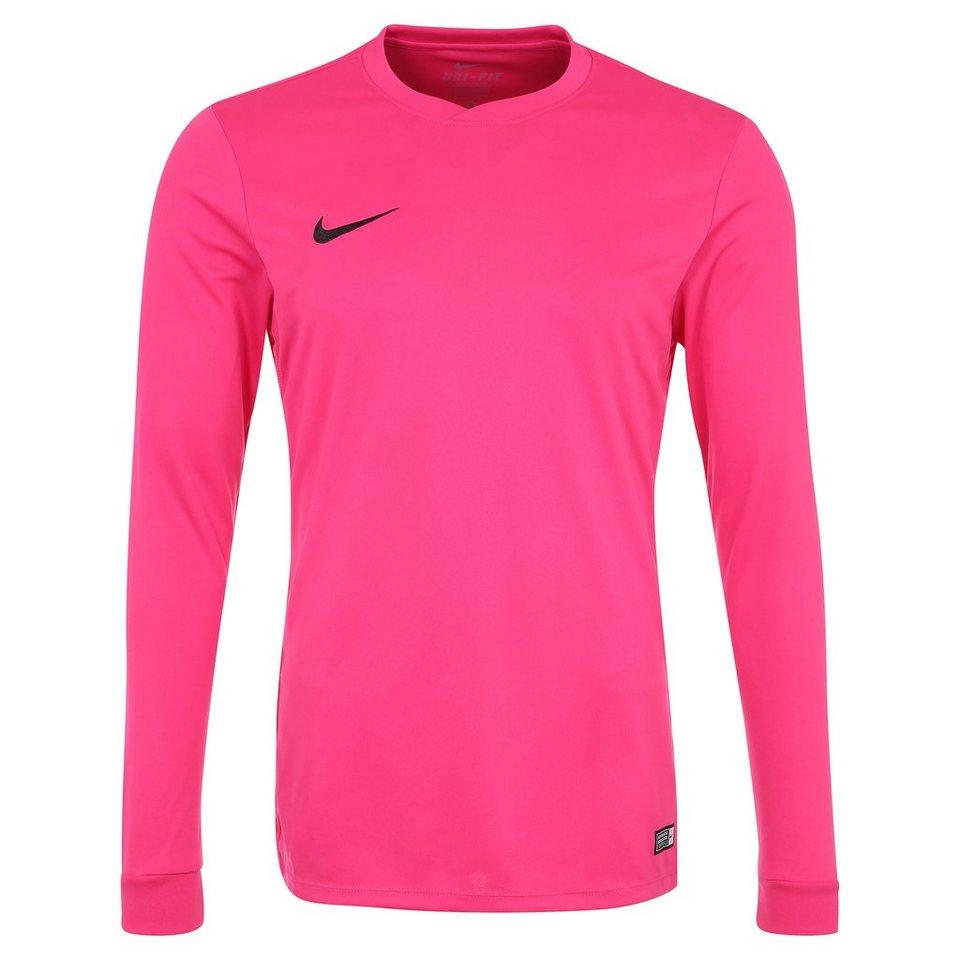 NIKE Park VI Fußballtrikot Herren in pink / schwarz