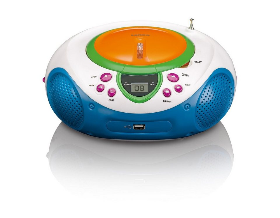 lenco kinder ukw-radio mit cd-/mp3 player & usb-anschluss »scd-40