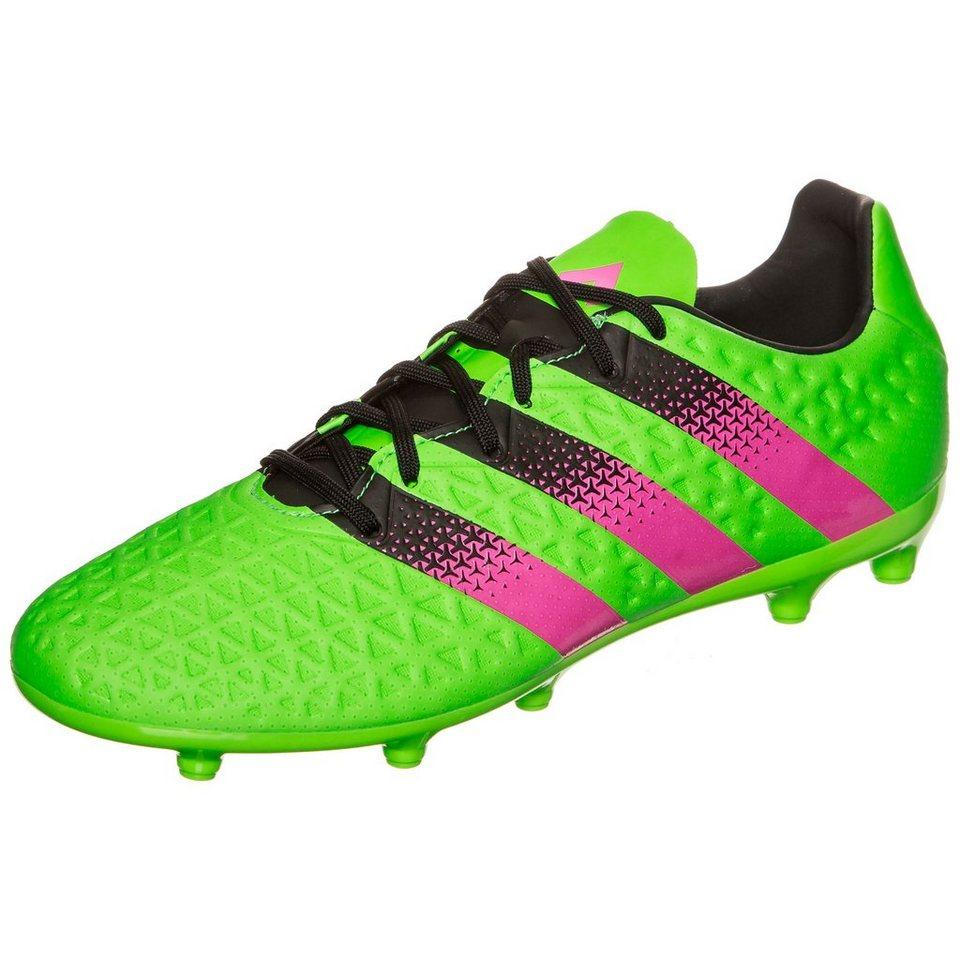 adidas Performance ACE 16.3 FG/AG Fußballschuh Herren in grün / pink