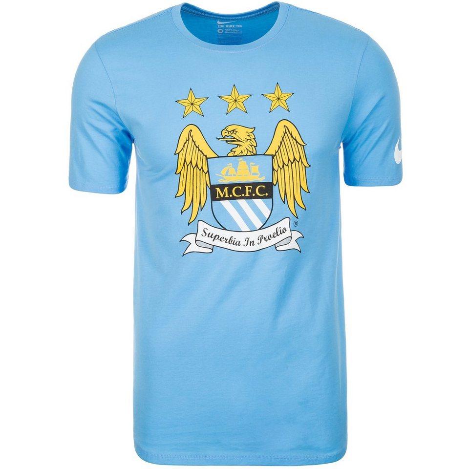 NIKE Manchester City Crest T-Shirt Herren in hellblau