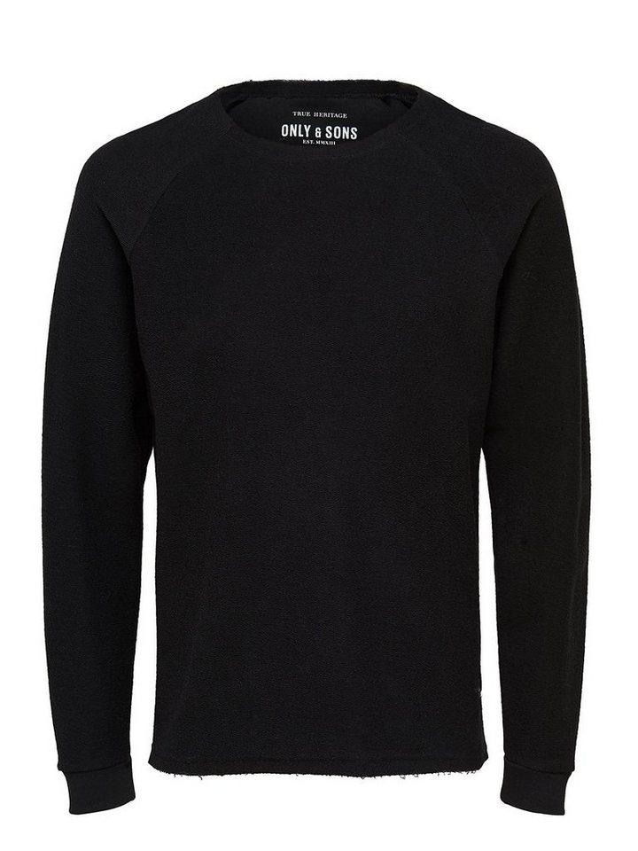 ONLY & SONS Bedrucktes Sweatshirt in Black