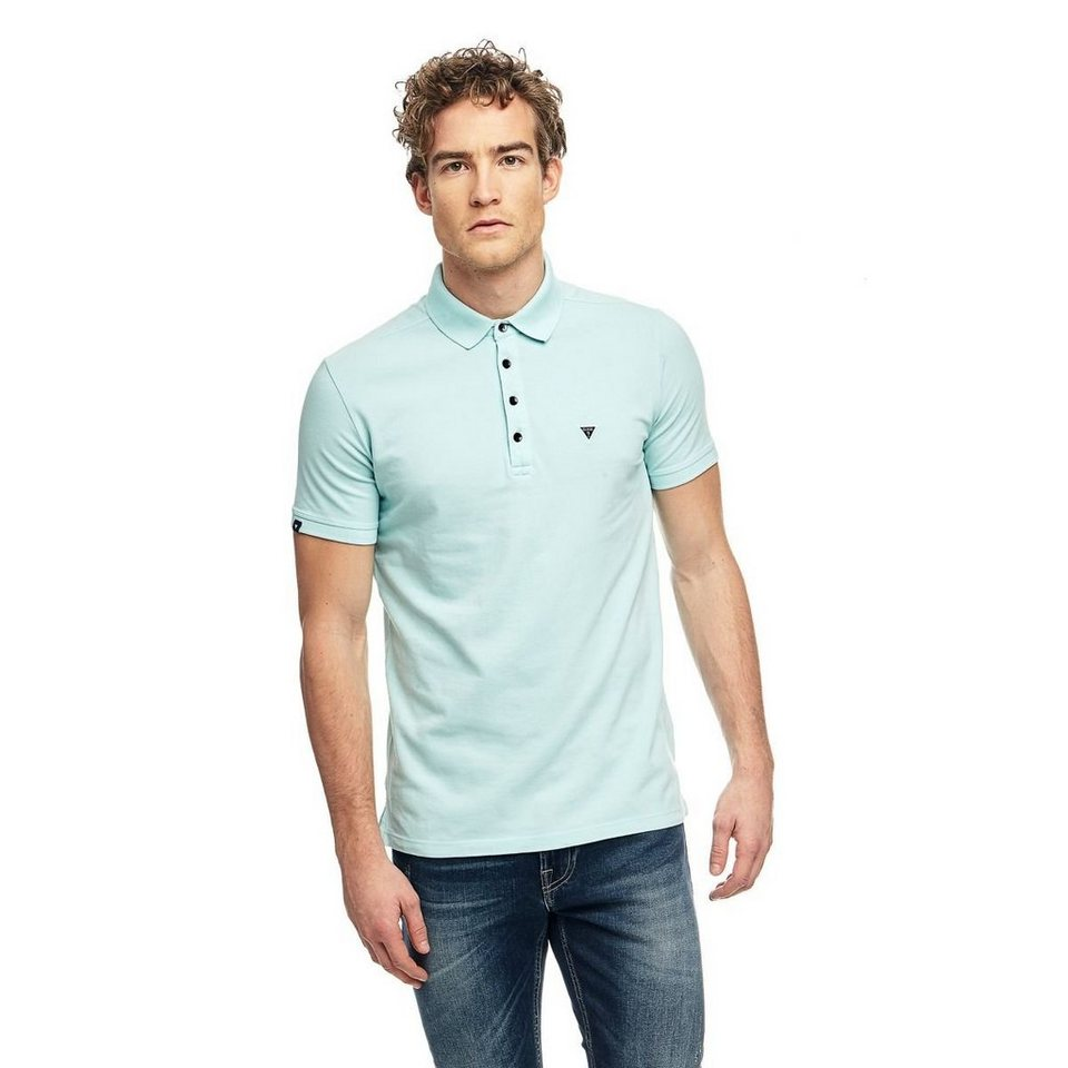 Guess T-Shirt »Light Stretch Pique Polo« in Grün