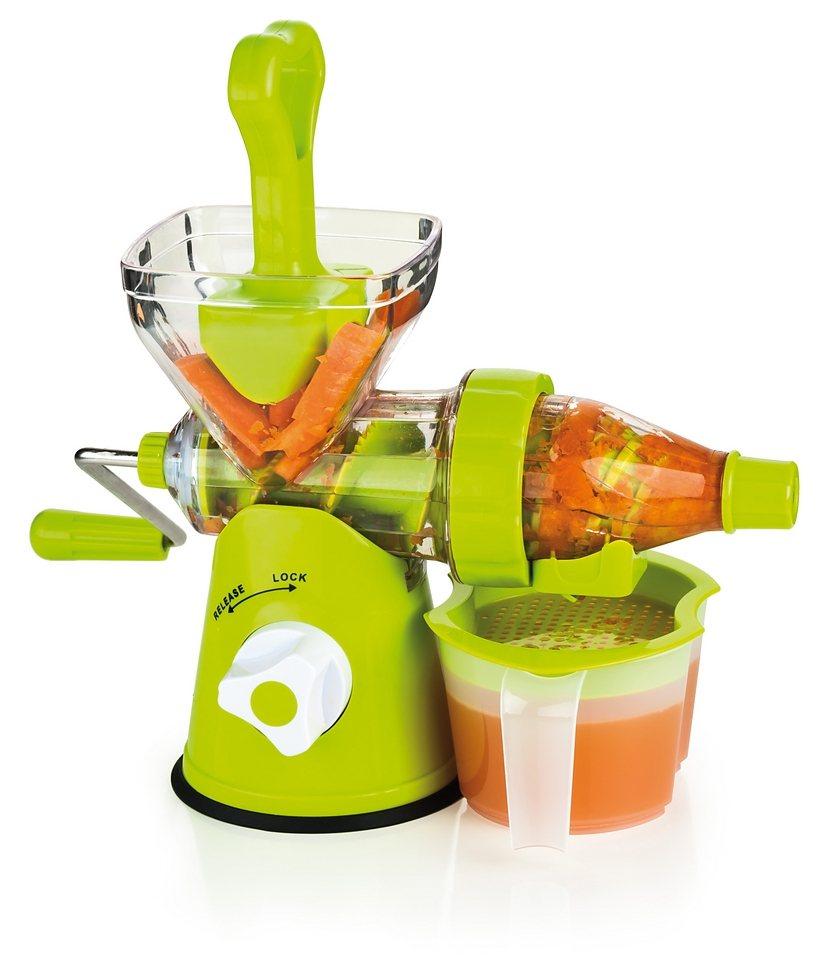Genius® Slow Juicer Obst- und Gemüsepresse in grün