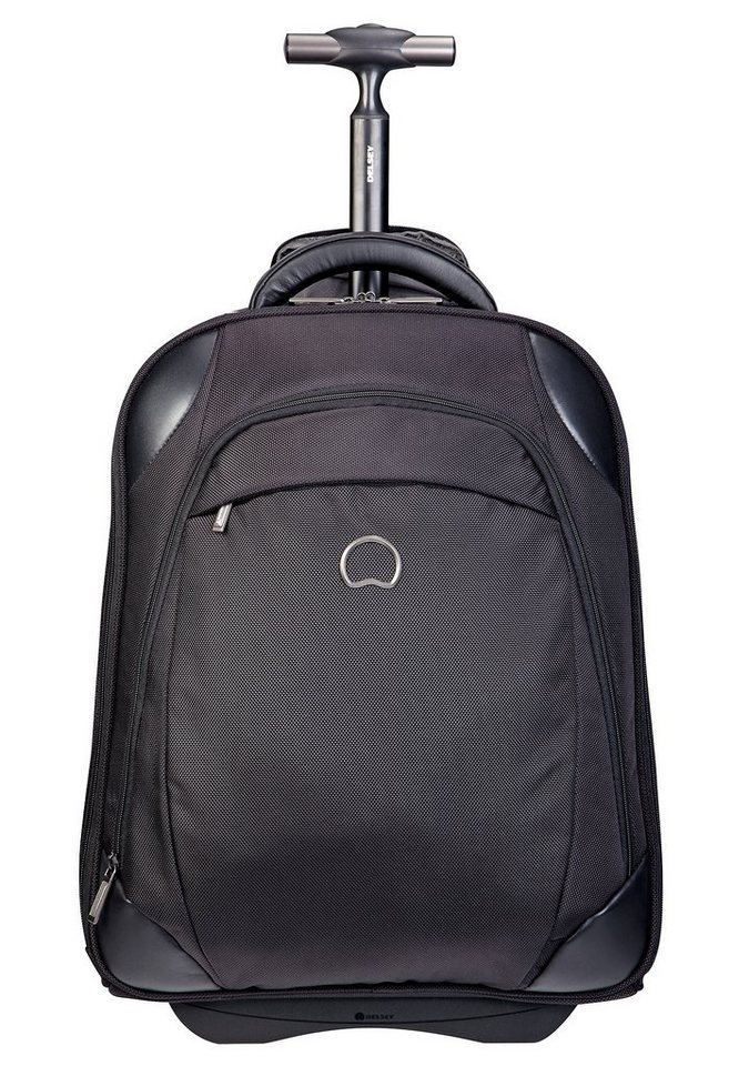 delsey rucksack mit trolleyfunktion 2 rollen und 17 3 zoll laptopfach quarterback online. Black Bedroom Furniture Sets. Home Design Ideas