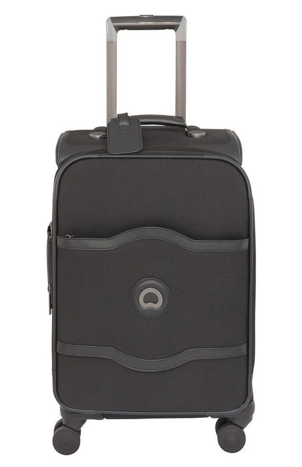 DELSEY Weichgepäck Trolley mit 4 Rollen und integrierter Bremse, »Chatelet Soft +« in schwarz