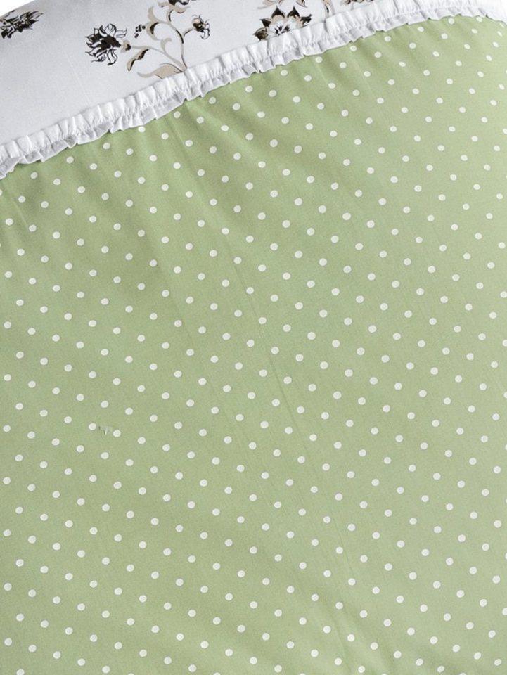 Designer-Bettwäsche in weiß/grün