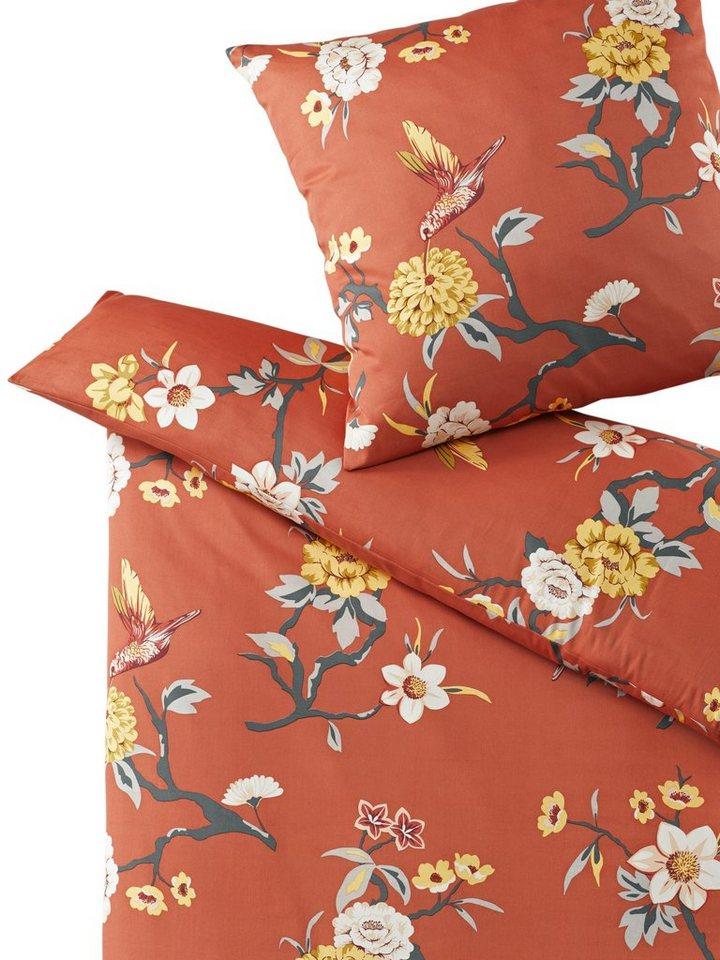 Designer-Bettwäsche in orange