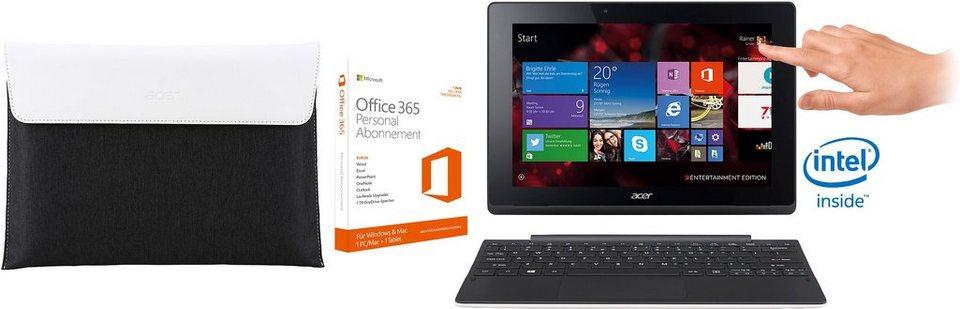 Acer Aspire Switch 10 E Convertible Notebook, Intel® Atom™, 25,6 cm (10,1 Zoll), 32 GB Speicher in weiß