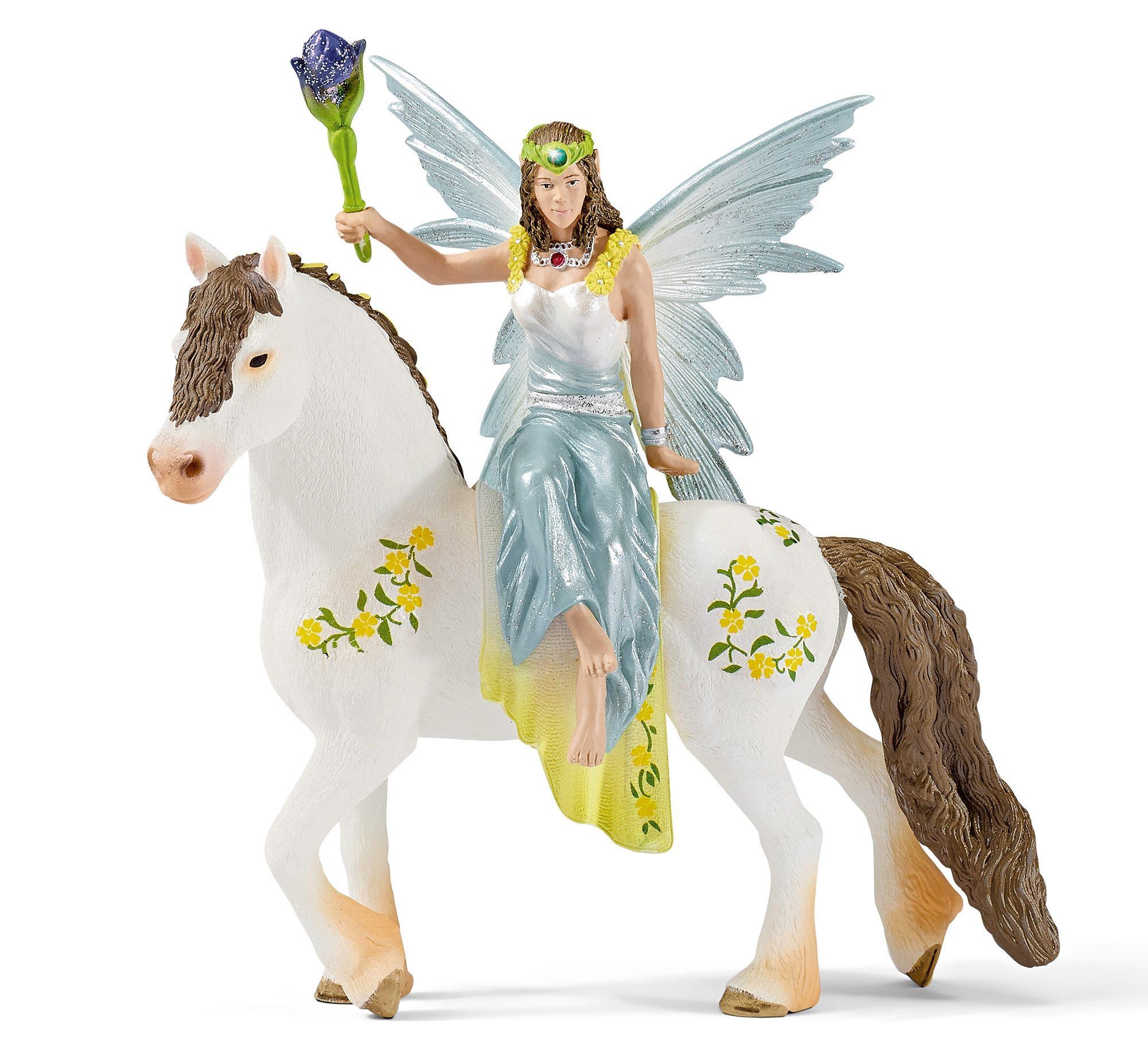 Schleich® Spielfigur (70516), »World of Fantasy bayala - Eyela in festlicher Kleidung, reitend«
