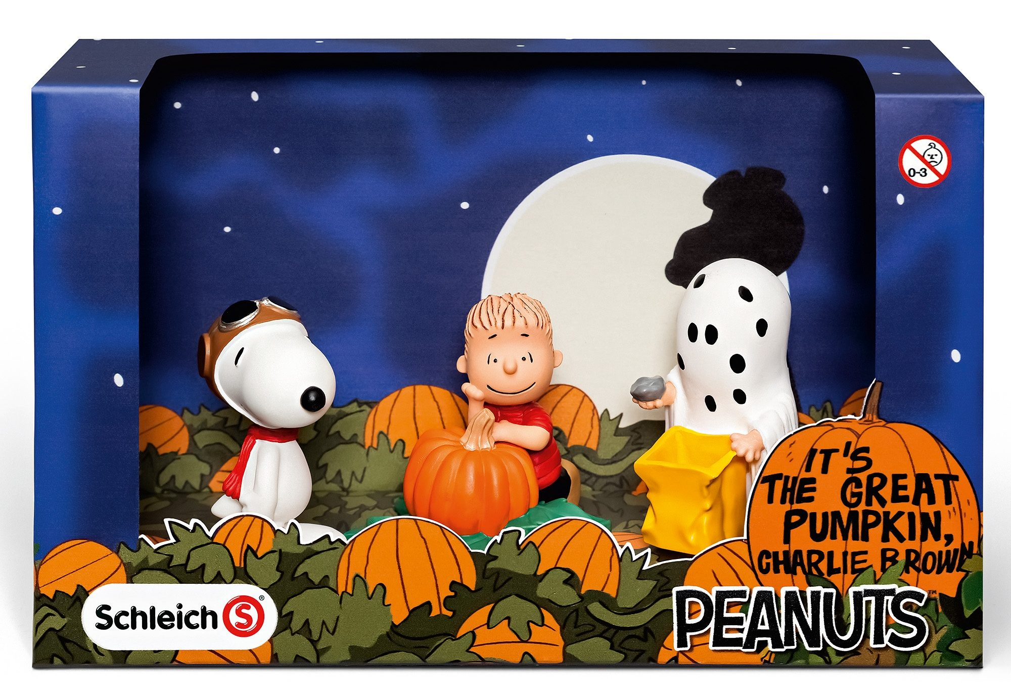 Schleich® Spielfiguren-Set, »Peanuts® - Scenery Pack Halloween«
