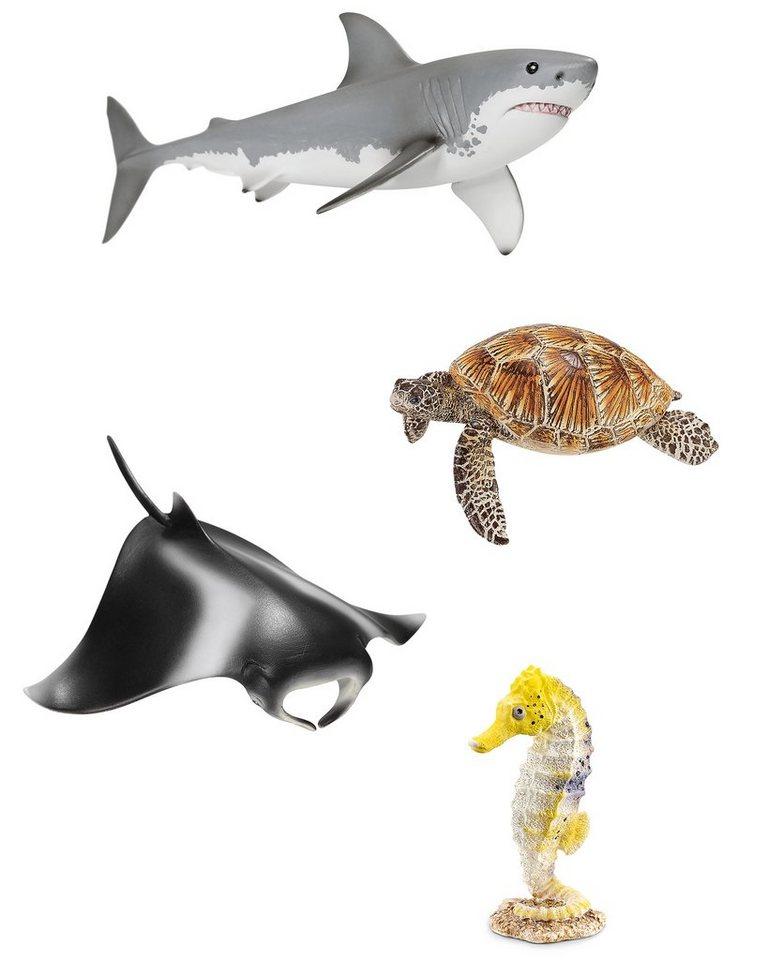Schleich® Spielfiguren-Set, »World of Nature Wild Life - Set Ozean« (4tlg.)