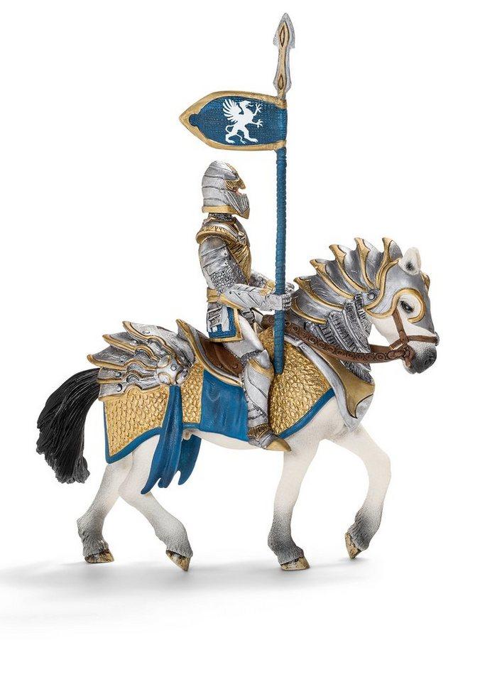 Schleich® Spielfigur, »Eldrador - Greifenritter Tukay zu Pferd mit Lanze«