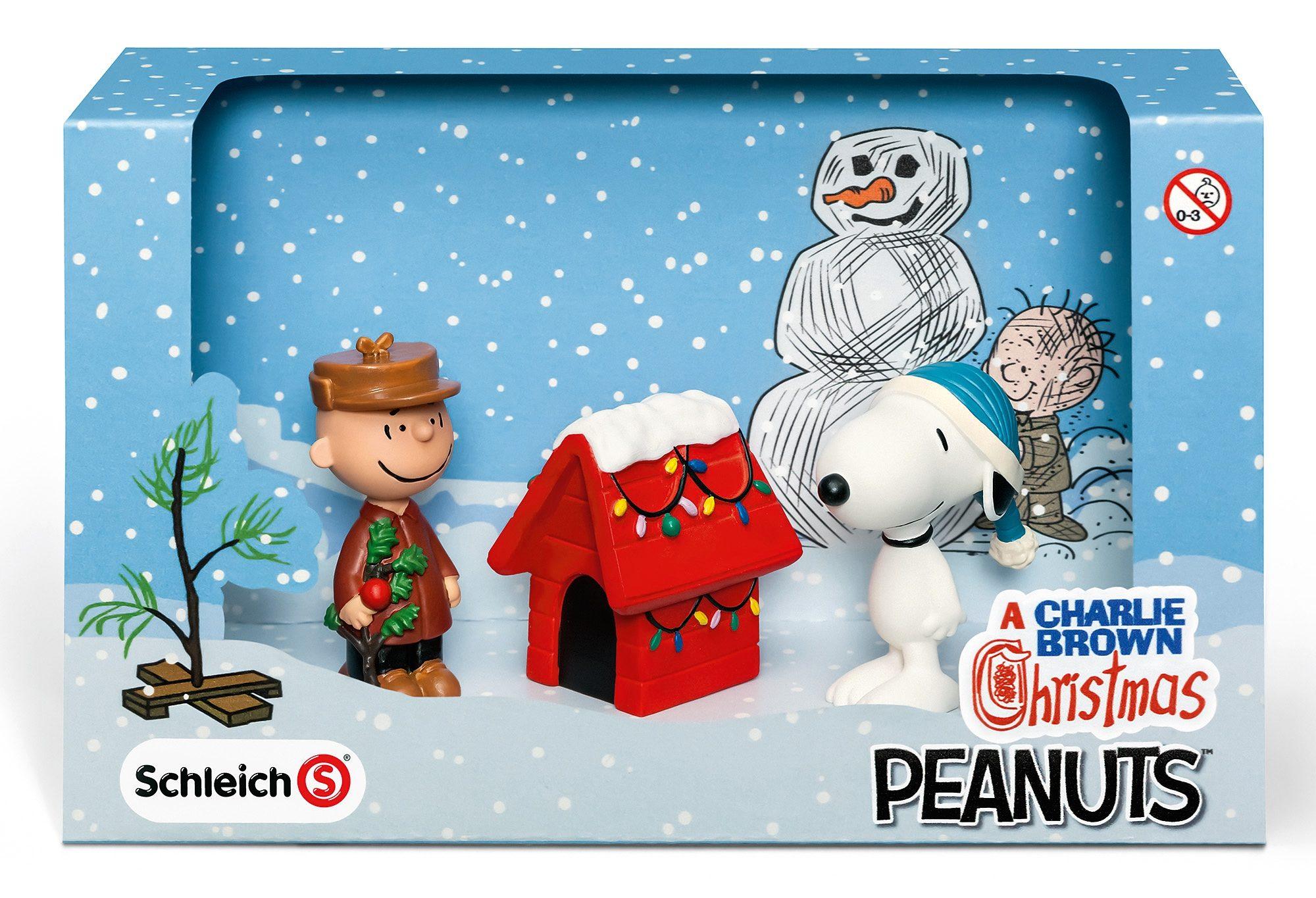 Schleich® Spielfiguren-Set, »Peanuts® - Scenery Pack Christmas«
