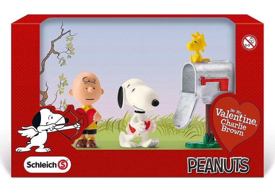 Schleich® Spielfiguren-Set, »Peanuts® - Scenery Pack Valentines«