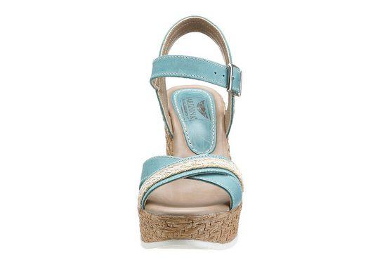 Arizona Sandalette, mit Keilabsatz, aus Leder