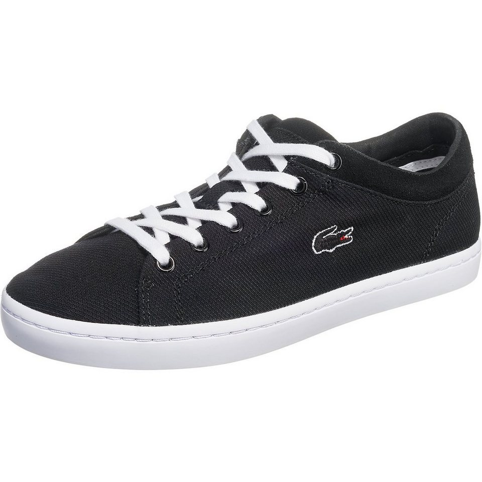 LACOSTE Straightset Sneakers in schwarz