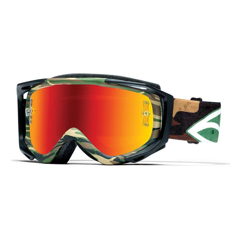 Smith Radsportbrille »Optics Fuel V.2 Sweat-X M Goggles /red mirror« in oliv