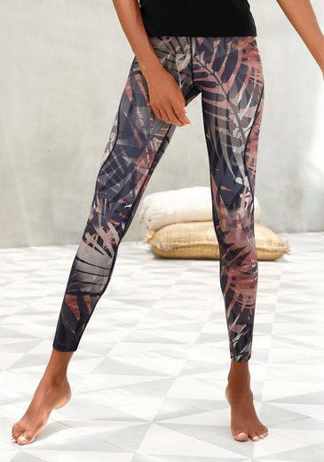 LASCANA ACTIVE Leggings »Tropical« mit abstraktem Palmenprint
