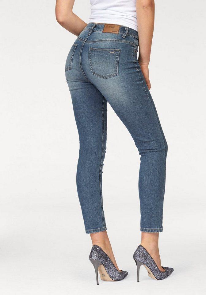 Arizona 7/8-Jeans »Slimfit« High- Waist in blue-used