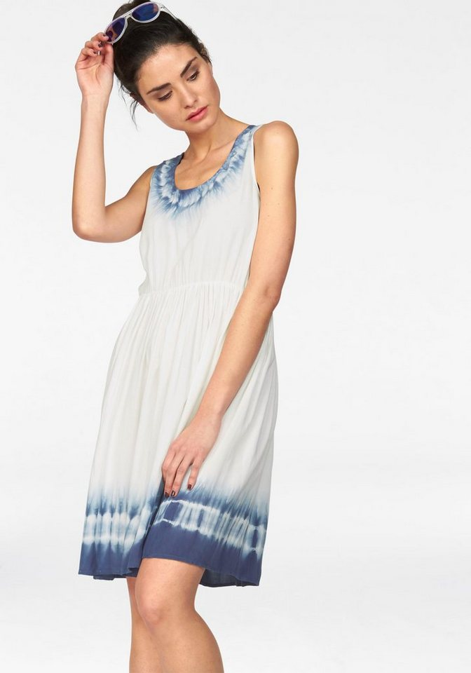 LTB Sommerkleid »Motene« mit Batikmuster in weiß-blau-batic