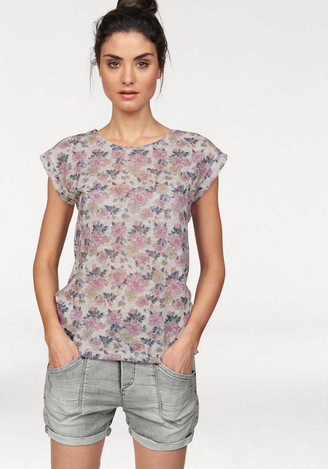LTB T-Shirt »Jasaki« mit allover Print in ecru-bedruckt