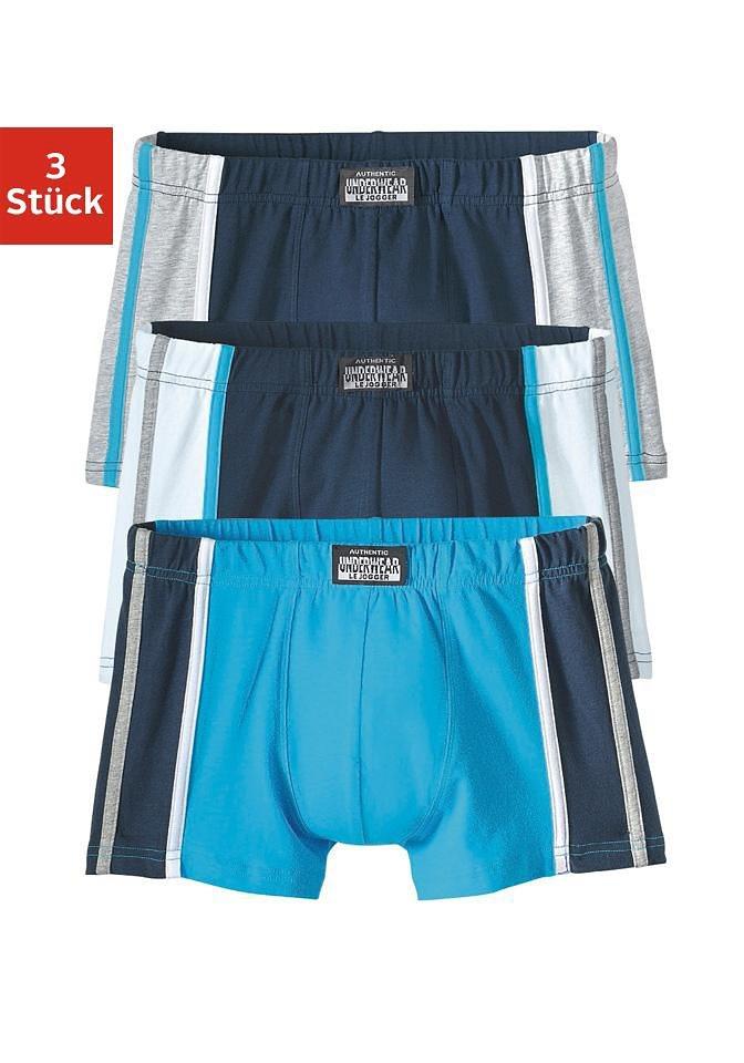 Authentic Underwear Boxer (3 Stück) in na,tür,gra