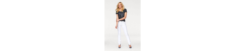 Arizona T-Shirt vorn mit Pailletten, im Glamour-Sporty-Look