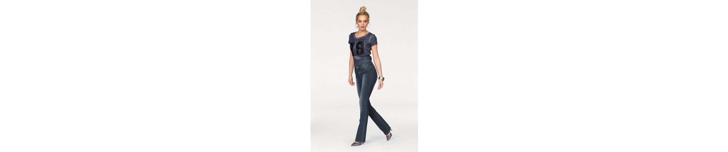 Arizona Bootcut-Jeans Shaping, High Waist