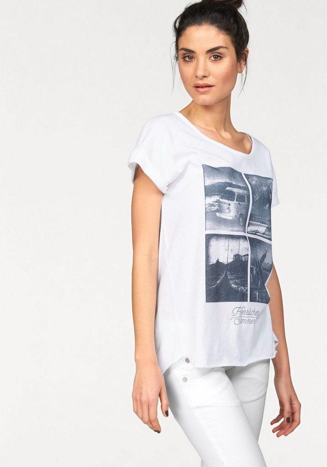 Herrlicher T-Shirt »Alisa« mit großem Frontprint in weiß