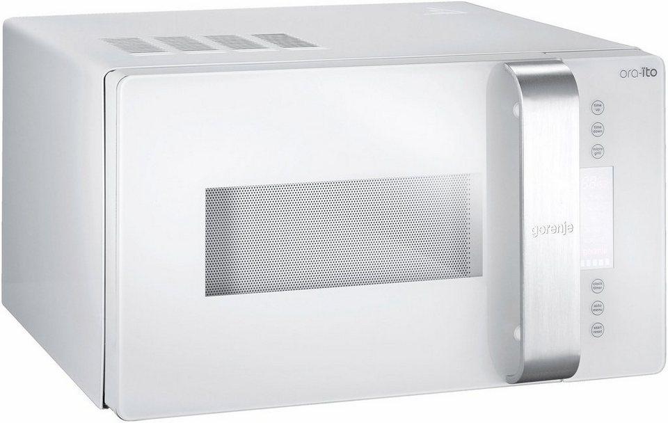 Gorenje Mikrowelle GMO23ORA-ITO, mit Grill, 23 Liter Garraum, 900 Watt in schneeweiß